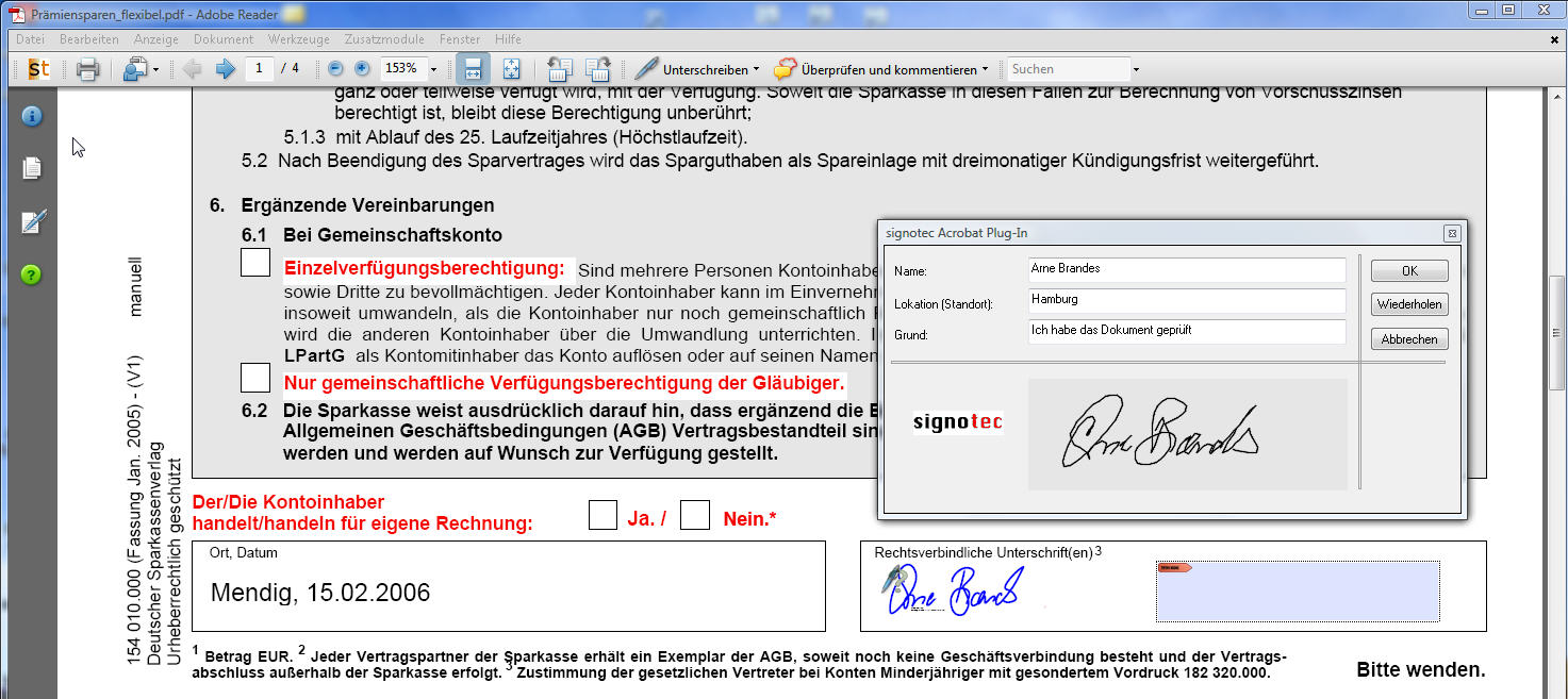 Adobe Reader Signature Plug-In